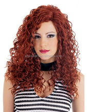 Best selling !!! lady's fashion heat resistant synthetic wigs
