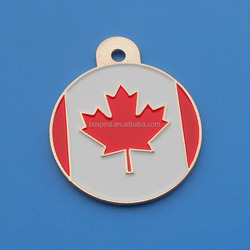 Canada Flag Maple Leaf Design Dog Tag Necklace for Man