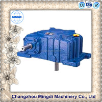 WPO Cast Iron small agriculture Worm Transmission Gearbox Parts with diesel engines for rotary tiller