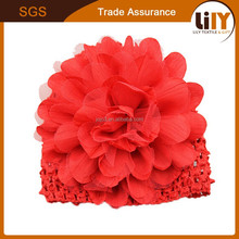 Winter Red Knit Children Hats With Flower Wholesale