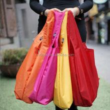 Foldable 190T ripstop nylon shopping tote bag