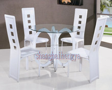 Whole sale hot product Modern glass dining table / dining room sets