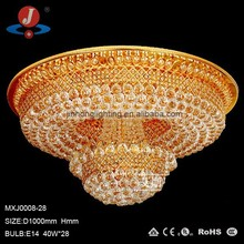 larger luxury crystal chandelier in ceiling lamp for hotel