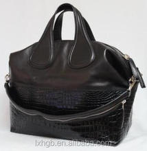 Calfskin leather Double handles and single strap Black Hobo Bag Designer Handbags Shop ladies fashion Bags