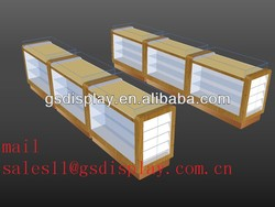 wood glass mobile phone store ,mobile phone display counters