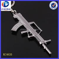 Promotional keychain ebay China Weapon Metal model Submachine gun keyring