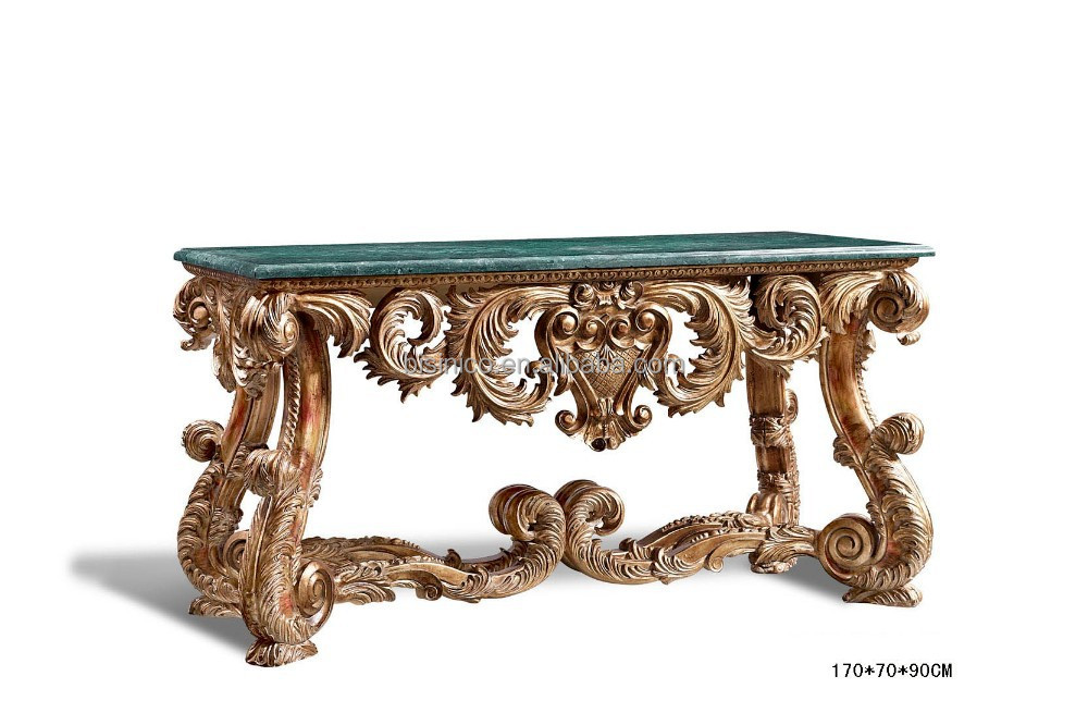 Foyer Table With Marble Top : Antique luxury console table hall foyer