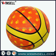 2015 transfer printing photo 25% rubber basketballs