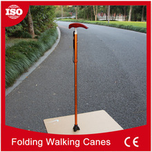 nternational brands of raw materials aluminum folding height walking stick hiking
