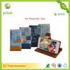 New design PU leather case for iphone 6s with standing function