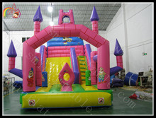 Funny Red Square inflatable slide bouncy & castle for kids
