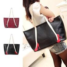 Hot Fashion Cheap Women Ladies Synthetic Leather Vintage Big Handbags SV018663