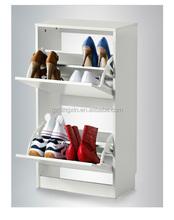mirror shoes cabinet with two drawers for europe (DX-8619)