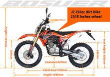 250cc dirt bike air cooler zonshen engine J2 enduro with light