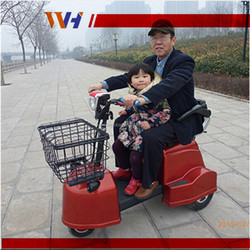 Two seats foldable shopping three wheel electric vehicle