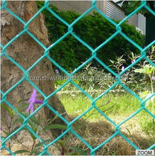 5 foot plastic coated chain link fence