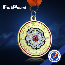 High quality Football league medal with Shiny gold color