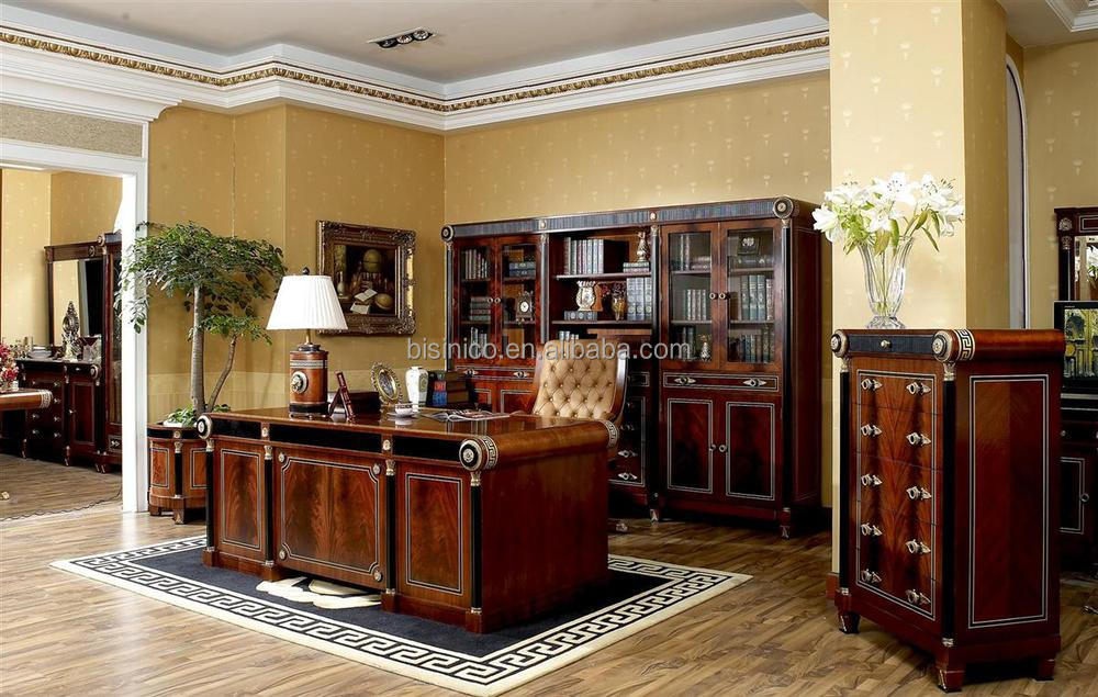 bisini luxe bureau de direction noble style classique. Black Bedroom Furniture Sets. Home Design Ideas