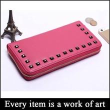 (sz-wallet 123) women wallet 2015 pyramid rivet metal studed purse handles, design your own wallet