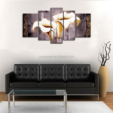 Hot selling still life oil painting on canvas,5pcs panel home decor painting