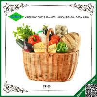 Large wholesale bulk wicker basket with handle