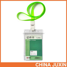 RBD 0.3mm Clear Soft Plastic ID Card Holders badge holder with Lanyard D3002