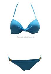 Blue Super Mini Two-pieces Women Bikini