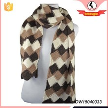 Diamond Pattern Warm Knitted Scarf For Winter