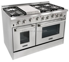 Stainless Steel Material and Piezoelectric Ceramic Ignition Ingition Mode Four Burner Gas Oven Range