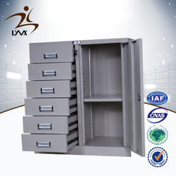 Modern furniture design 6 drawer swing door cloth metal cabinet