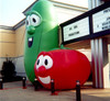 gaint inflatable Veggie Tales Larry and Bob promotion parade balloon for advertising