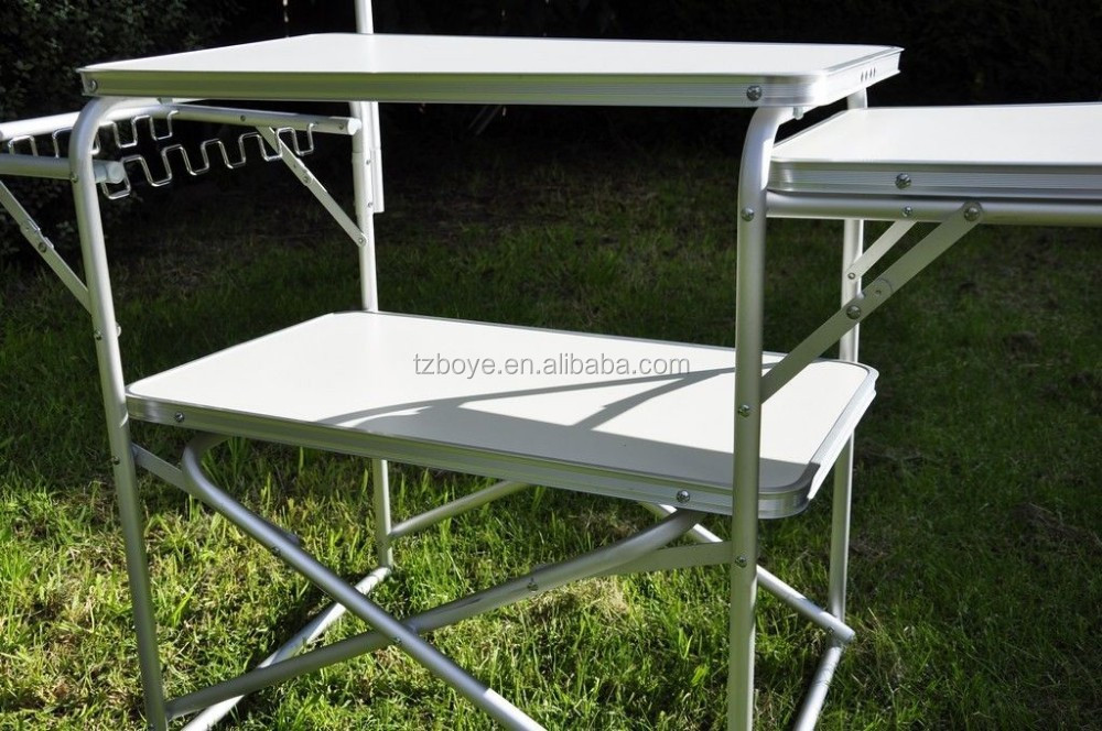 New Aluminium Portable Folding Camping Kitchen Table With