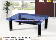 Glass colorful coffee tables furniture used for sale