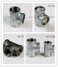 """1-1/2"""" malleable iron pipe fitting tee banded equal"""