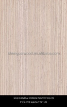 cheap colored recon walnut wood face veneer made from log for decorative furniture door skin