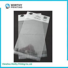 Plastic Material and Heat Seal Sealing & Handle clear self adhesive seal plastic bag