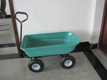 Steel Metal Utility Cart Folding Sides Farm Lawn Garden Wagon