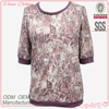 high quality latest blouse designs 2013 with print pattern for fat lady
