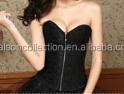 2015 instyles New Zip Girl Underbust Corset waist trainer cincher wholesale sexy image