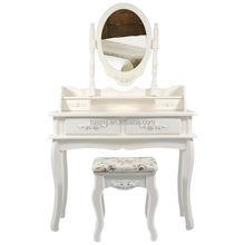 2015 mejores ventas de madera tocador con silla para el dormitorio