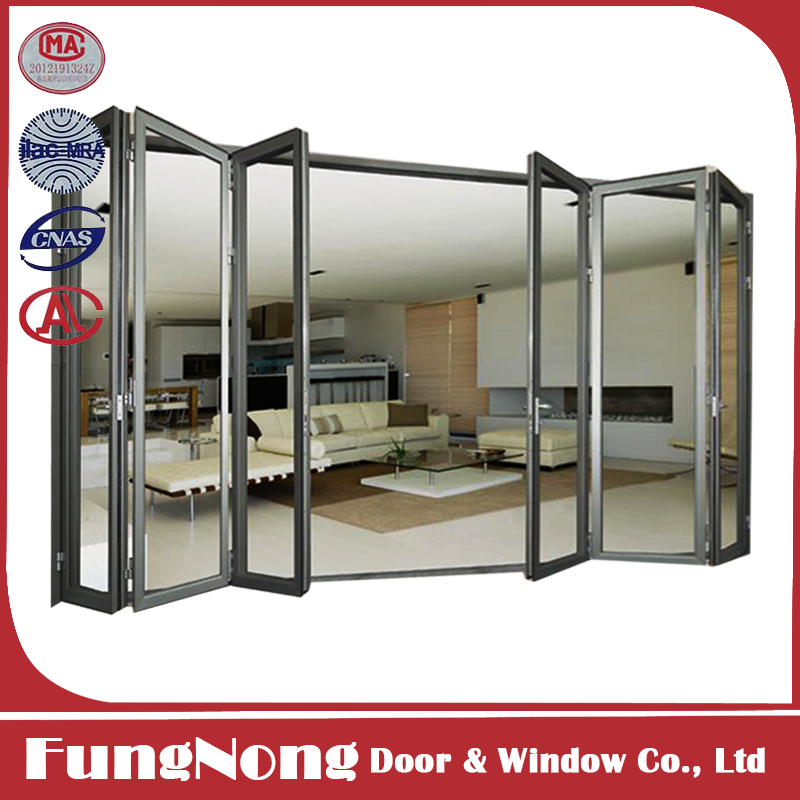 High quality interior folding doors for aluminum glass for Good quality interior doors