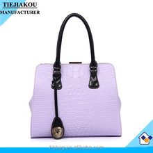 Ladies Wholesale Prices Handbags China Croc Textured Metal Frame Bag