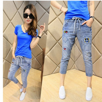 new female Harlan jeans embroidered ladies tide models was thin pants seven feet Breathable Color Fade Proof women Jeans