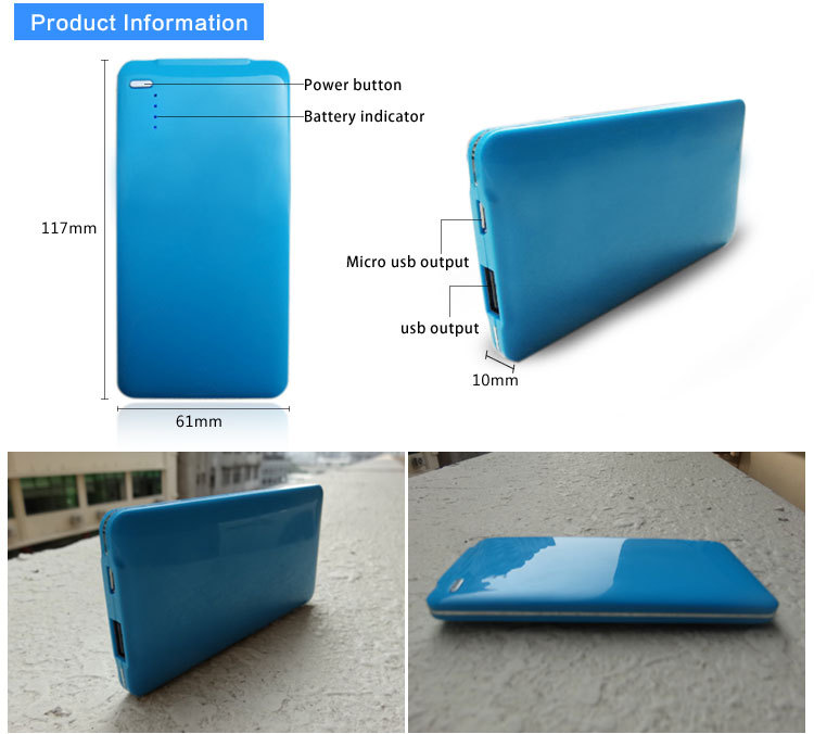 Promotional credit card power bank!Rohs power bank 4000mah,usb power bank charger,external battery