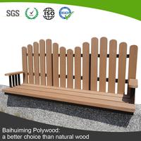 UV-resistant Wood Plastic Composite Slats Bench Public Furniture
