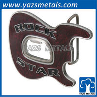 promotional metal engrave belt buckle bottle opener