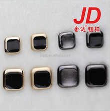 Factory wholesale metal shank buttons for coat of square shape