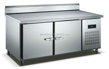 Working table with evaporate tube showing chiller & freezer (Backed) 300L