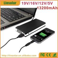 LCD 13200mAh external laptop battery extender 19v for hp acer hp