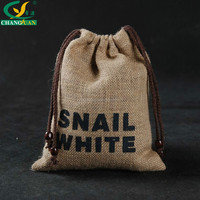 China wholesale Recyclable cheap jute packaging bags with drawstring